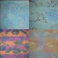 peinture sur drap de laine